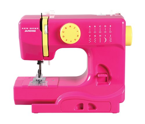 Janome Fastlane Fuschia Basic, Easy-to-Use, 10-Stitch Portable, Compact Sewing Machine with Free Arm...