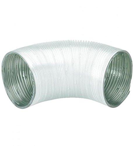 Conducto redondo de aluminio flexible de 10 cm de diámetro x 1,5 m – Paquete de 2