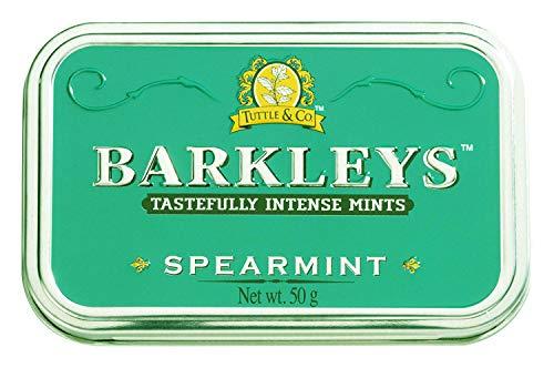 Barkleys Verde Invernale Caramelle Menta Intensa. Confezione da 6 Lattine. Senza derivati del latte, Glutine, Uova, Soia e sostanze animali. Adatto a Vegetariani e Vegani. Da collezionare