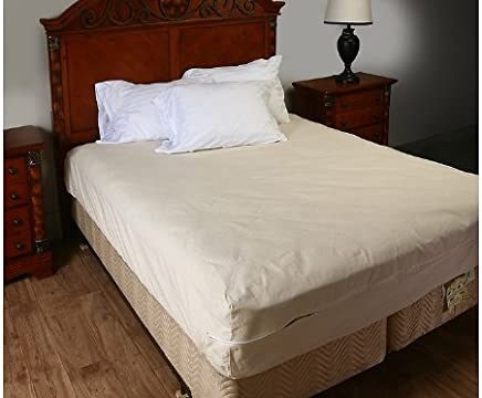 Shop Bedding Zippered Mattress Encasement,  Breathable Poly/Cotton Mattress Cover,  Twin (39 x 75 x 9)