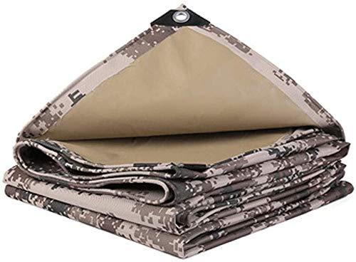 Waterdicht Heavy Duty dekzeil Camouflage dekzeil Heavy Duty, 4 X 3 M Camo Tarps, Geschikt voor tuinieren Vissen Hangmat Regen Fly Tent Tarp Footprint Shelter Ground Cloth, Multi-Size Option