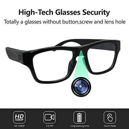 FUPOM Eyeglasses Video Camera FHD 1080P, Wearable Mini DVD for Wonderful Moment Record, Perfect for Daily Life Meeting Outdoor Sports Records