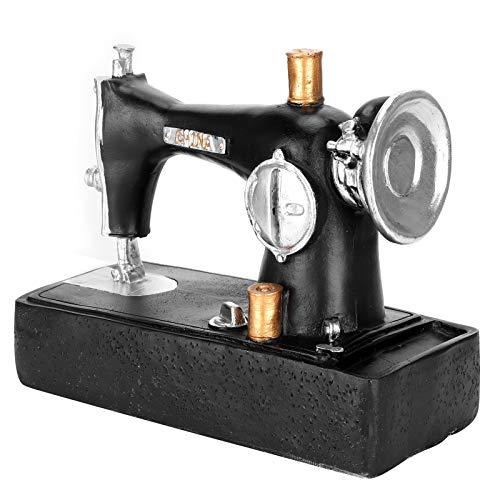 Agatige Decoración de máquina de Coser Retro, Modelo de Figuras en Miniatura, Adorno de Escritorio para Tienda de Bar en casa