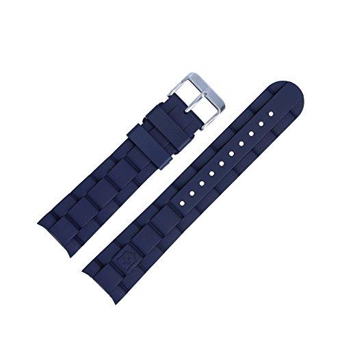 Victorinox Uhrenarmband 22mm Kunststoff Blau - Uhrband Set 004783