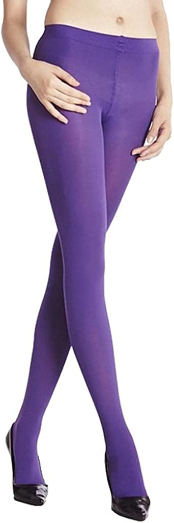 HUOJING Pantyhose for Women Candy Color Fall Burnish Opaque Tights Sexy Stockings Leggings Long Socks