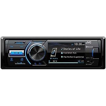 JVC - KD-X560BT - Digital Media Car & Marine Bluetooth Receiver iPhone/Android/USB/AUX Car Stereo with Rear Camera Input