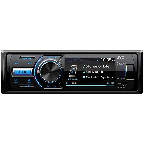 JVC - KD-X560BT - Digital Media Car & Marine Bluetooth Receiver iPhone/Android/USB/AUX Car Stereo with Rear Camera Input