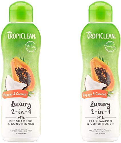 2-PACK Papaya and Coconut Pet Shampoo and Conditioner, Luxury 2-in-1 Shampoo and Conditioner for Dogs and Cats, 20 oz.