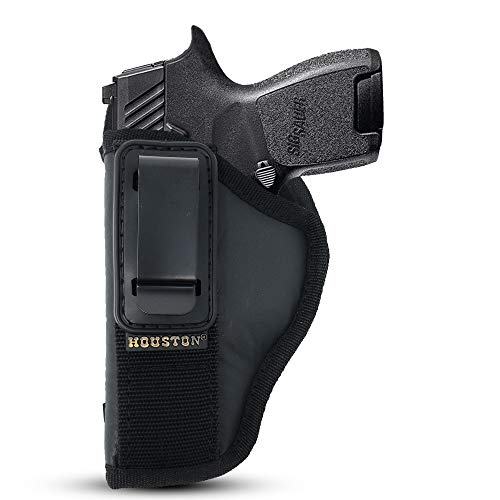 """IWB TUCKABLE Gun Holster by Houston - ECO Leather Concealed Carry Soft Material 