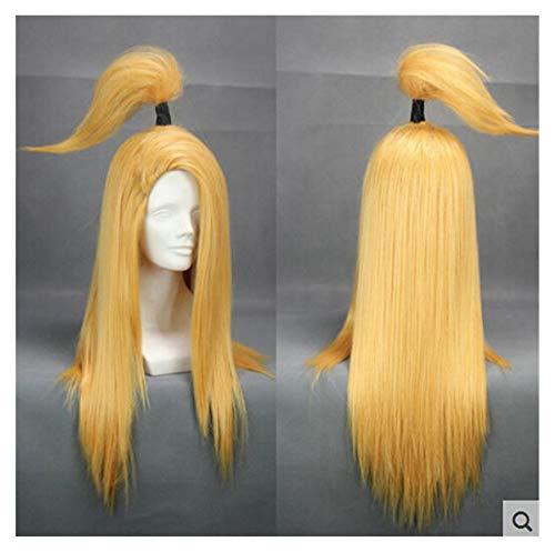 COSPLAZA Perücke Junge Cosplay Wig Lang Gold Gelb Anime Haar