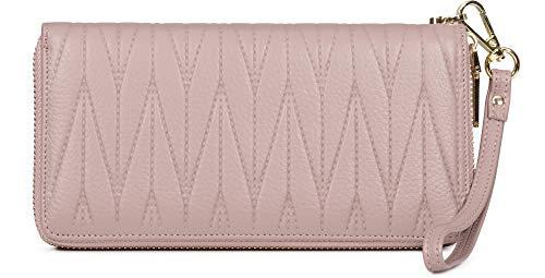 Merry Style Damen Geldbörse Portemonnaie aus Echtleder mit vielen Fächern Reißverschluss...