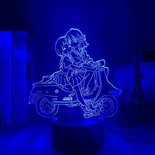 3D Nachtlicht Töte La Kill Ryuko Matoi LED Nachtlicht für Schlafzimmer Dekor Geschenk Nightlight Anime 3D Lampe Ryuko Matoi Kill La Trolle ZGLQ
