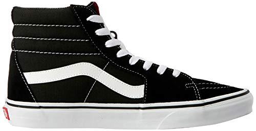 Vans SK8-Hi Classic Unisex-Adults Hi Top Lace-up Sneaker, Black (Black/White), 8.5 UK ((42.5 EU))