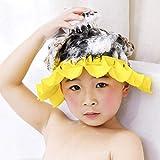 Wateralone Baby Badekappe Verstellbare Duschvisierkappe, weiches Silikon Duschhaube Shampooschutz Hüte, Badeshampoo Shield Sonnenschutz Kappe Visier für Kinder von 0-6 Jahren