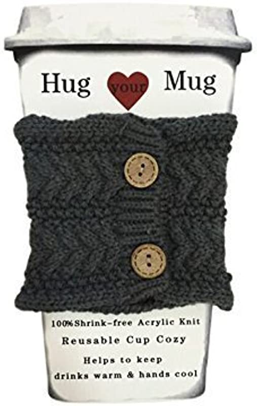 Hug Your Mug Cup Cozy Reusable Coffee Sleeve Hand Protector Drink Grip For Paper Cups