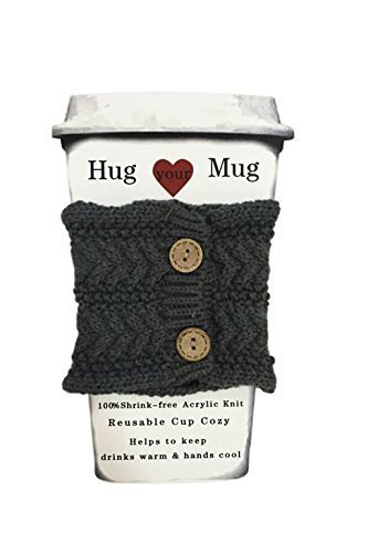 crochet coffee cup cozy - 3
