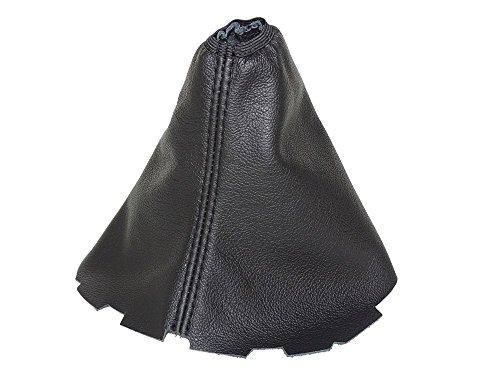 The Tuning-Shop Ltd Schalthebelmanschette für manuelle Schaltung, schwarzes Leder, H8-5UT0-U8AN