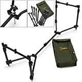 NGT DYNAMIC POD ADJUSTABLE 3 ROD COMPACT TRAVEL ROD POD WITH CASE CARP FISHING