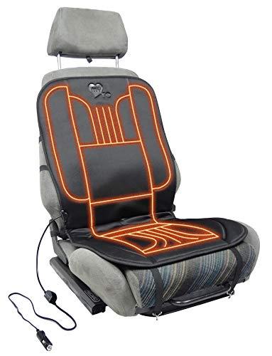 Sitzheizung, beheizbare Sitzauflage 12V fürs Auto zum Nachrüsten, schnelle, angenehme Wärme, My SEAT Heater to GO beheizbares Sitzkissen mit Wärmeregler, die universal Auflage ist schnell montiert
