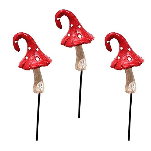 Fiddlehead Lot de 3 champignons rouges