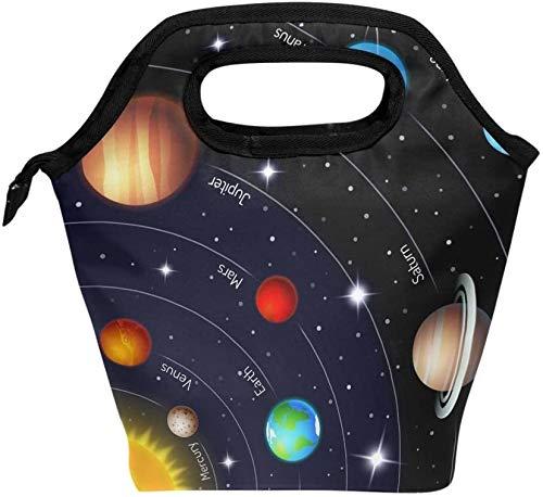 Lonchera, Universe Galaxy Solar System Aislada Cooler Ice Lonchera Tote Bag Bolso para Hombres Mujeres Adultos Niños Niñas Niños-Color9