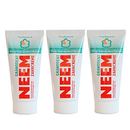 DR. GRANDEL Neem Zahncreme (3 X 50 Ml), Angenehmer Kräutergeschmack, Bio Zahnpasta, Vegan, Fluoridfrei, Naturkosmetik