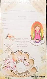 DPW Baptism Bautizo Christening Party Invitations Spanish Invitaciones Virgencita Baby 10PC Fiesta