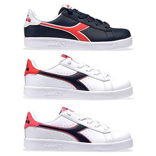 Diadora Game P GS Sneakers Bianco Nero Rosa 173323-C8593 (38 - Bianco)