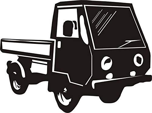 KFZ Aufkleber - 'Multicar M25' - Oldtimer - DDR - Nutzfahrzeuge // Autoaufkleber Farben- und Größenwahl (Schwarz - 280 mm x 210 mm)