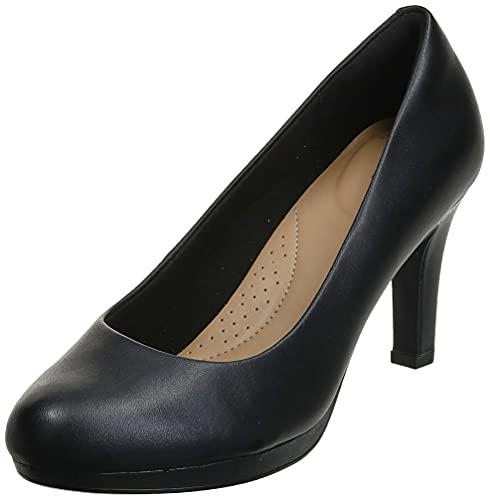 Clarks Women's Adriel Viola Dress Pump, Black Leather, 7 M US