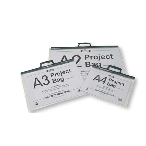 Artcare Künstlermappe (1565300085x 10x 64cm A1Synthetik Material Projekt Tasche mit Karte einfügen, transparent