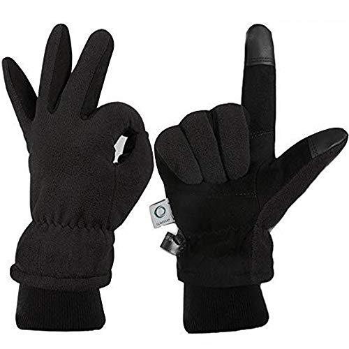 ccbetter Winter Gloves for Men Women Touchscreen Waterproof Windproof -40°F Warm Cowhide Deerskin Fleece