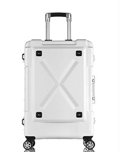 [レジェンドウォーカー] スーツケース 多機能付きアウトドア型キャリーケース Mサイズ 67L 69 cm 5.4kg 6302-62 ホワイト
