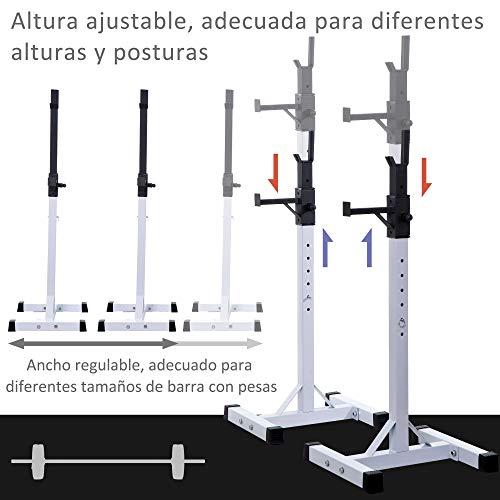 HOMCOM Soporte Estante Ajustable Barra...