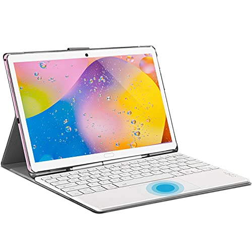 Tablet 10.8 Zoll, 4G LTE Android 10.0 Tablet PC, 2 in1 Tablet mit Tastatur 6 GB RAM + 128 GB ROM, 2560x1600 FHD, IPS, 8000 mAh Deca-Core-Prozessor Dual SIM (Rosa)
