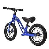 Bicicleta de Equilibrio para niños, sin Pedales, Ruedas de 12/14 Pulgadas, Asiento Ajustable, Primera Bicicleta para niños de 2-8 años de Edad, Estable y Segura