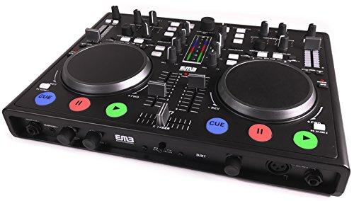 EMB - DJX7 - NEW Professional DUAL MP3 Mixer DJ Scratch Midi Controller! Virtual DJ Software included! (Matte Black)