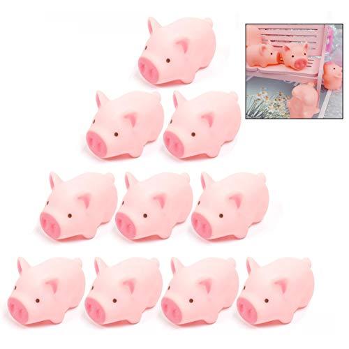 LHKJ 10 Stücke Baby badespielzeug,Schwein Badewanne Spielzeug Geschenkset für Kinder(Rosa)