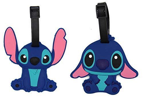 CellDesigns Cartoon Set Luggage Tag with Adjustable Strap (2 Pack Stitch)