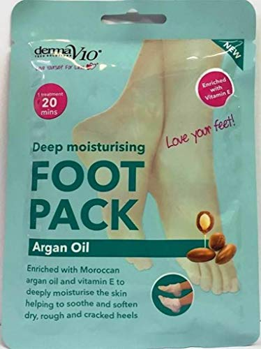 DermaV10 Argan Oil Foot Pack, Pack of 1
