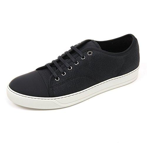 C2858 Sneaker Uomo Lanvin Vere Scarpa Nero Low Top Shoe Man [5]