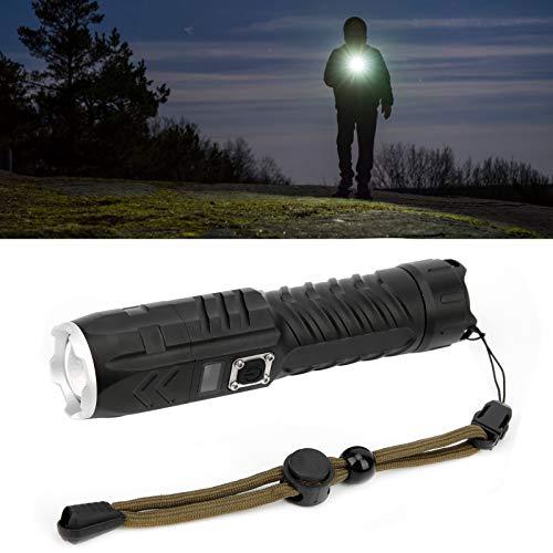 Mini linterna LED, 16x3.5x3.5cm Linterna ultra brillante, enfoque telescópico con zoom para senderismo, acampada, patrulla