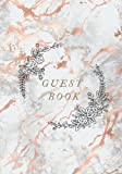 Guest Book: Rose Gold Marble Wedding Guest Book. Guest Book Blank Pages, Stick Pictures/Photos & Sign In. Slots For Bridal Team To Snap It, Shake It, ... Best Alternative For Lined Guest Books.