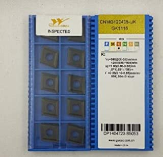 FINCOS carbide inserts CNMG120408 UK GK1115 Suitable for MCLNR Series Turning Facing External Lathe Tool