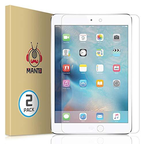 Manto 2 Stück Panzerglas Schutzfolie für iPad Mini 5 2019 / iPad Mini 4,Gehärtetem Glas Bildschirmschutzfolie 9H Gehärtetes Panzerglas Folie für iPad Mini 4