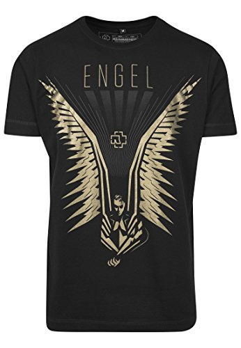 Rammstein Flügel Tee T-Shirt, Black, XXL Homme