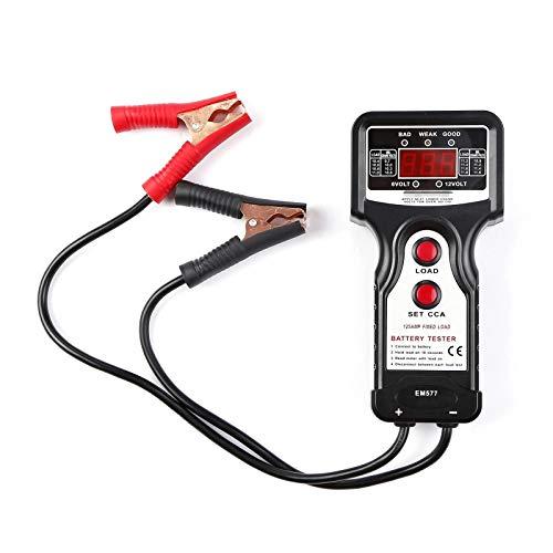 ZzheHou Probador De Batería De Automóvil Automotriz Digital Battery Probador De Batería Carga De Carga Cargar Herramienta De Prueba De Voltaje Herramienta De Prueba De Celda De Coche