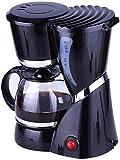 YINGGEXU Cafetera Filtro de café de la máquina, filtro de café de un toque, de goteo Cafetera Conservar el calor, anti-goteo de diseño, filtro extraíble y 600 ml Embudo Compatible with el amante del c