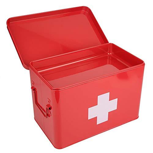 needlid Caja de Primeros Auxilios con Almacenamiento de medicamentos de Gran Capacidad, botiquín, contenedor Seguro para el hogar Familiar