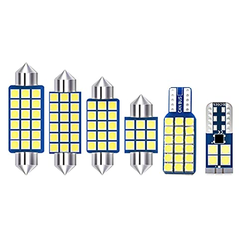 CarWorld para Suzuki SX4 S Cross S-Cross 2013 2014 2015 2016 2017, Kit de 5 uds 12v Bombillas LED lámpara de Lectura Interior del Coche Accesorios de luz de Maletero